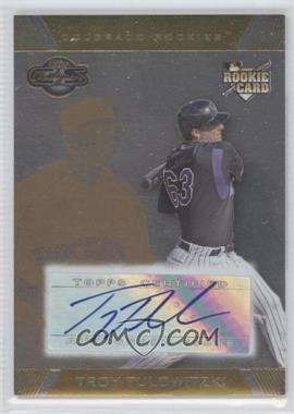 2007 Topps Co-Signers - [Base] - Silver Gold #102 - Troy Tulowitzki /100