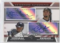 Nick Swisher, Justin Morneau