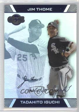 2007 Topps Co-Signers Hyper Silver/Blue #91 - Tadahito Iguchi, Jim Thome /15