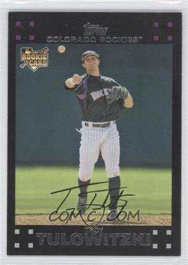 2007 Topps Colorado Rockies #COL5 - Troy Tulowitzki