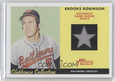 2007 Topps Heritage Clubhouse Collection Relics #CC BR - Brooks Robinson