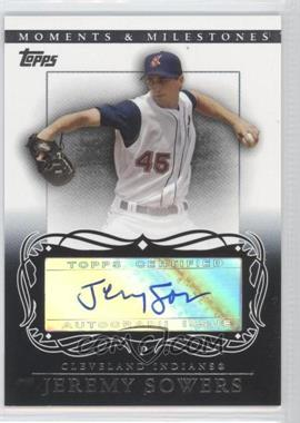 2007 Topps Moments & Milestones Autographs #MA-JS - Jeremy Sowers