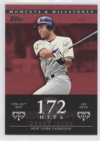 Derek Jeter (1996 AL ROY - 183 Hits) /1