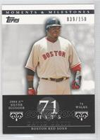 David Ortiz 2004 AL Silver Slugger - 75 Walks /150