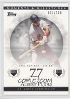 Albert Pujols 2001 NL ROY - 130 RBI /150