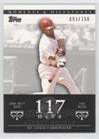 Albert Pujols 2001 NL ROY - 194 Hits /150