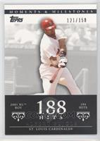 Albert Pujols 2001 NL ROY - 194 Hits /150