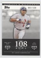 Albert Pujols 2001 NL ROY - 112 Runs /150
