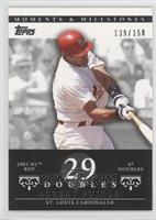 Albert Pujols 2001 NL ROY - 47 Doubles /150