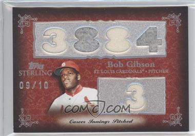2007 Topps Sterling [???] #5CS-52 - Bob Gibson /10