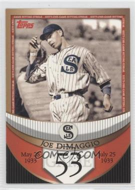 2007 Topps The Streak Before the Streak #JDSF53 - Joe DiMaggio