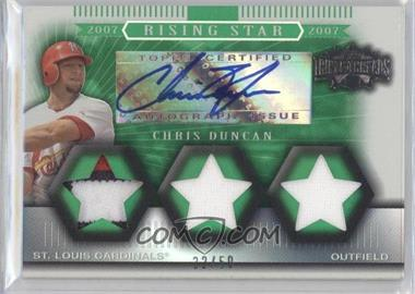 2007 Topps Triple Threads [???] #162 - Chris Duncan /50
