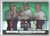 Jose Reyes, Carlos Beltran, David Wright /18