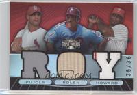 Albert Pujols, Scott Rolen, Ryan Howard /36