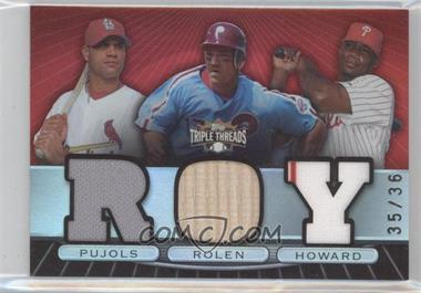 2007 Topps Triple Threads [???] #TTRC59 - Albert Pujols, Scott Rolen, Ryan Howard /36