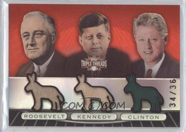 2007 Topps Triple Threads [???] #TTRC93 - Franklin D. Roosevelt, John F. Kennedy, Bill Clinton