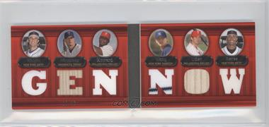 2007 Topps Triple Threads Double Combo Relics #32 - David Wright, Justin Morneau, Ryan Howard, Chien-Ming Wang, Chase Utley, Jose Reyes /36