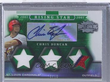 2007 Topps Triple Threads Emerald #162 - Chris Duncan /50