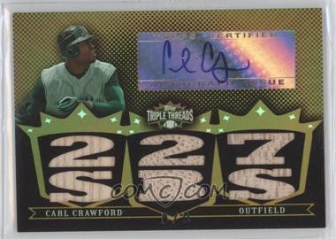 2007 Topps Triple Threads Relic Autographs Gold #TTRA 21 - Carl Crawford /9