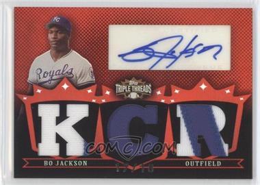 2007 Topps Triple Threads Relic Autographs #TTRA123 - Bo Jackson /18