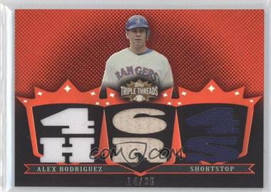 2007 Topps Triple Threads Relics #TTR-137 - Alex Rodriguez /36