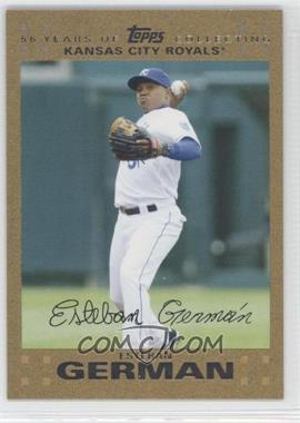 2007 Topps Updates & Highlights Gold #UH77 - Esteban German /2007