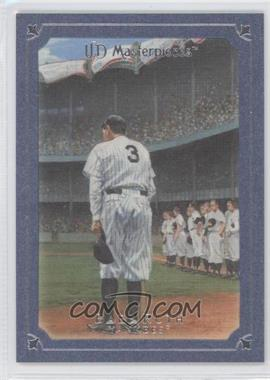 2007 UD Masterpieces - [Base] - Blue Steel Frame #2 - Babe Ruth /50