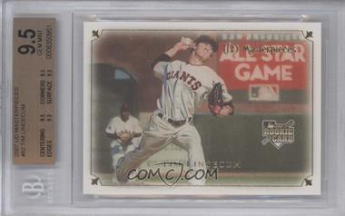 2007 UD Masterpieces - [Base] #82 - Tim Lincecum [BGS 9.5]