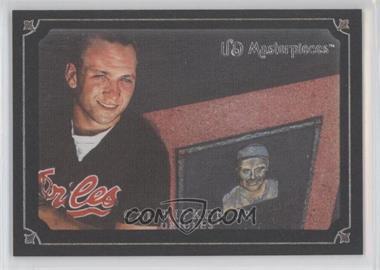 2007 UD Masterpieces Black Linen Frame #55 - Cal Ripken Jr. /99