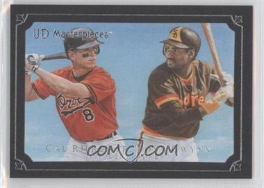 2007 UD Masterpieces Serious Black Frame #42 - Tony Gwynn, Cal Ripken Jr. /99