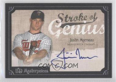 2007 UD Masterpieces Stroke of Genius #SG-JU - Justin Morneau