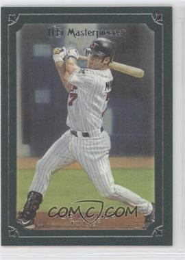 2007 UD Masterpieces Windsor Green Frame #35 - Joe Mauer