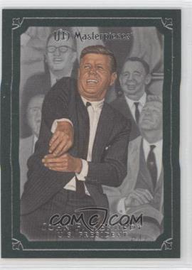 2007 UD Masterpieces Windsor Green Frame #47 - John F. Kennedy