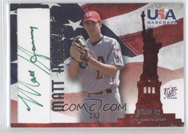 2007 USA Baseball - National Signature - Green Ink #A-37 - Matt Harvey /2