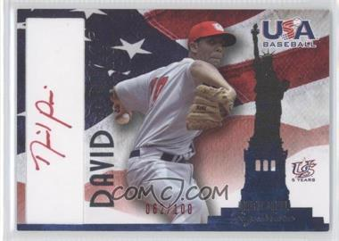 2007 USA Baseball - National Signature - Red Ink #A-7 - David Price /100