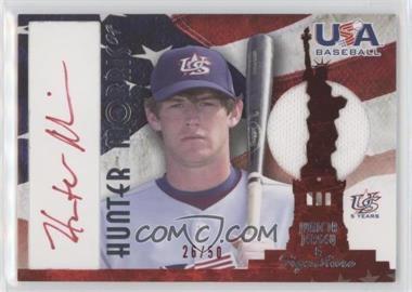 2007 USA Baseball National Jersey & Signature Red Ink #AJ-24 - Hunter Morris /50