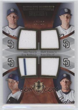 2007 Ultimate Collection - Ultimate Ensemble Swatches 4 #ES-PGMG - Jake Peavy, Khalil Greene, Greg Maddux, Brian Giles /25