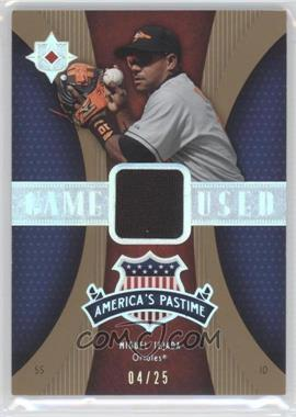 2007 Ultimate Collection America's Pastime Memorabilia Gold #PM-MT - Miguel Tejada /25