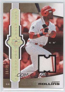 2007 Ultimate Collection Jersey #35 - Jimmy Rollins /50