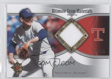2007 Ultimate Collection Ultimate Team Materials Swatch #UTM-NR - Nolan Ryan /50