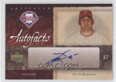 2007 Upper Deck Artifacts [???] #AF-ZS - Zack Segovia