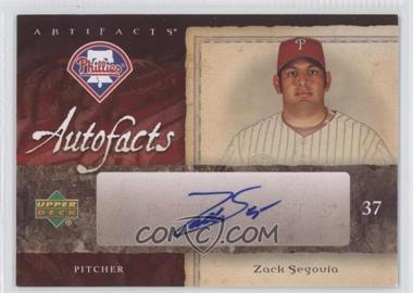 2007 Upper Deck Artifacts Autofacts #AF-ZS - Zack Segovia
