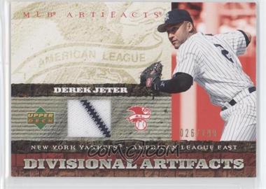 2007 Upper Deck Artifacts Divisional Artifacts Gold #DA-DJ - Derek Jeter /199