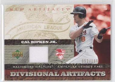2007 Upper Deck Artifacts Divisional Artifacts #DA-CR - Cal Ripken Jr. /199