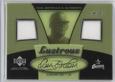 2007 Upper Deck Black Lustrous Materials Autographs Spectrum Gold #LU-CL - Carlos Lee /10