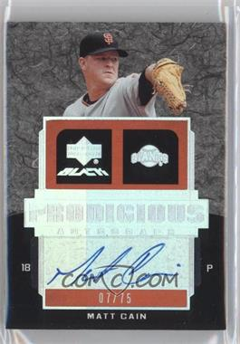 2007 Upper Deck Black Prodigious Autographs #PR1-MC - Matt Cain /75