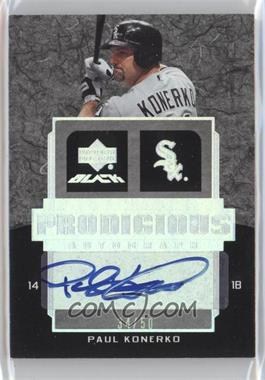 2007 Upper Deck Black Prodigious Autographs #PR1-PK - Paul Konerko /50