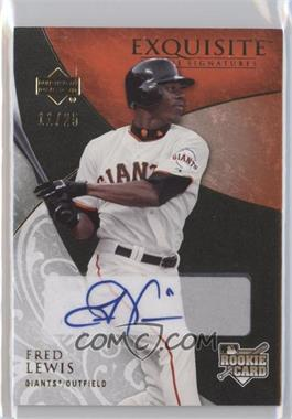 2007 Upper Deck Exquisite Rookie Signatures - [Base] - Gold #164 - Fred Lewis /25