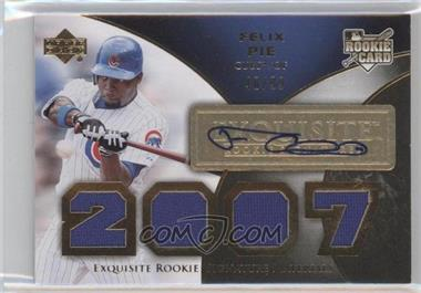 2007 Upper Deck Exquisite Rookie Signatures - [Base] - Gold #173 - Felix Pie /99