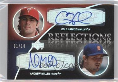 2007 Upper Deck Exquisite Rookie Signatures - Reflections - Silver Spectrum #REF-HM - Andrew Miller, Cole Hamels /10